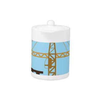 Tall building Crane sky Teapot