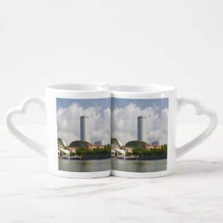 Tall building in Singapore next to River Coffee Mug Set