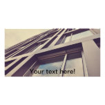 Tall building personalized photo card