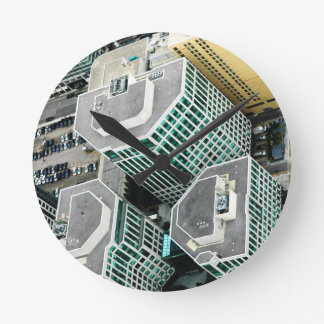 Tall Buildings Round Wall Clock