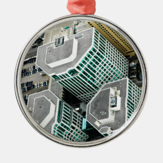 Tall Buildings Metal Ornament