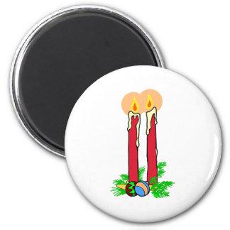 Tall Christmas Candles Fridge Magnet