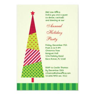 Tall Christmas Tree Corporate Invitation