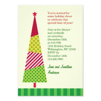 Tall Christmas Tree Invitation