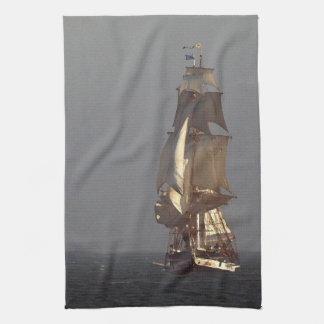 Tall Clipper Sailing Ship Kitchen Towel