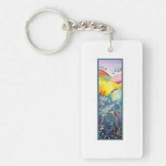 Tall Countryside Picture. Keychain