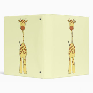 Tall Cute Giraffe. Cartoon Animal. Binder