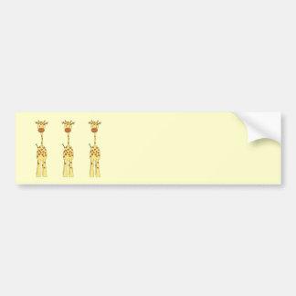 Tall Cute Giraffe. Cartoon Animal. Bumper Sticker