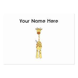 Tall Cute Giraffe Cartoon Animal Business Card