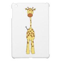 Tall Cute Giraffe. Cartoon Animal. Cover For The iPad Mini