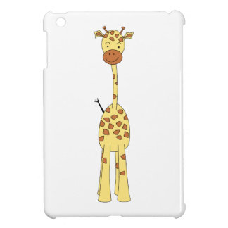 Tall Cute Giraffe. Cartoon Animal. iPad Mini Covers