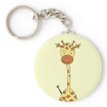 Tall Cute Giraffe. Cartoon Animal. Keychain
