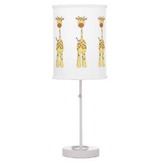 Tall Cute Giraffe. Cartoon Animal. Table Lamps