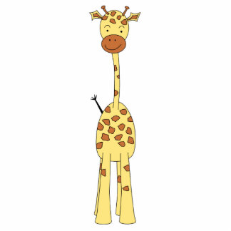 Tall Cute Giraffe. Cartoon Animal. Statuette