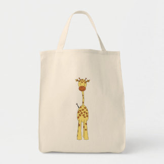Tall Cute Giraffe. Cartoon Animal. Tote Bag