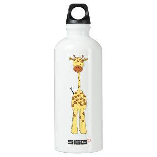 Tall Cute Giraffe. Cartoon Animal. Water Bottle