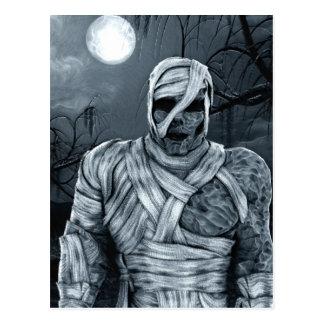 Tall Dark and Creepy Zombie Horror Art Postcard