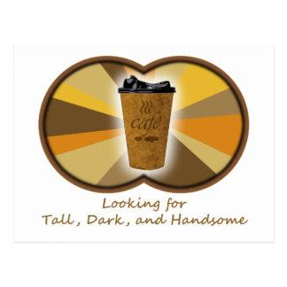 Tall Dark Coffee Postcard