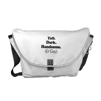 Tall Dark Handsome and Gay Commuter Bag
