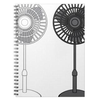 Tall Fan Spiral Notebook
