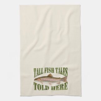Tall Fish Tales Told Here Trout Kitchen Towel