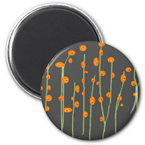 """""""Tall Flowers"""" Collection Fridge Magnets"""
