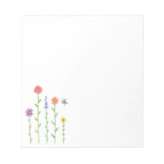 Tall Flowers Notepad
