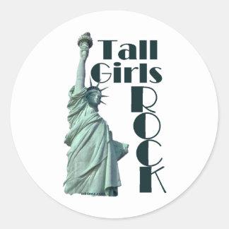 Tall Girls ROCK Round Sticker