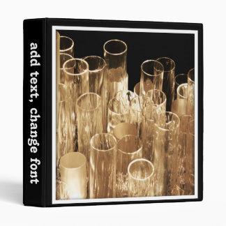 Tall Glass Lights 3 Ring Binder