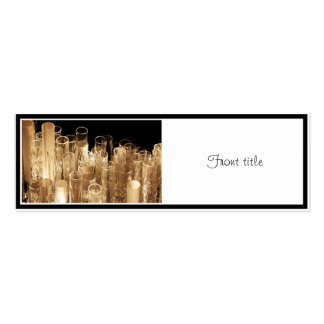 Tall Glass Lights Double-Sided Mini Business Cards (Pack Of 20)