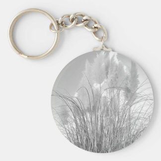 Tall Grass and Hyacinths at Island Park, NY. Basic Round Button Keychain