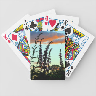 Tall Grasses at Sunset Playing Cards
