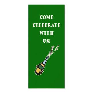 Tall Green Custom Party Invitations