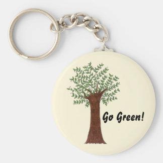Tall Green Tree Keychain