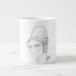 Tall Hat Flapper Large Coffee Mug