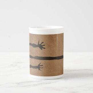 Tall Man Petroglyph Bone China Mug