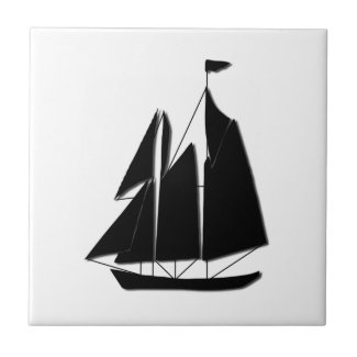 Tall Mast Sail Boat Ceramic Tile
