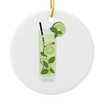 Tall Mojito Ceramic Ornament