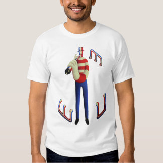 Tall musician  with musical notes T-Shirt