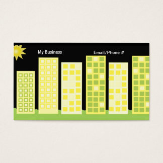 Tall Office Buildings Business Card