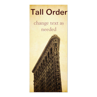 Tall Order Vintage NYC Invitation or Post Card