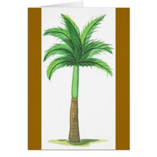 Tall Palm Tree Greeting Card