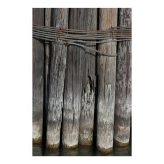 Tall Pilings Poster