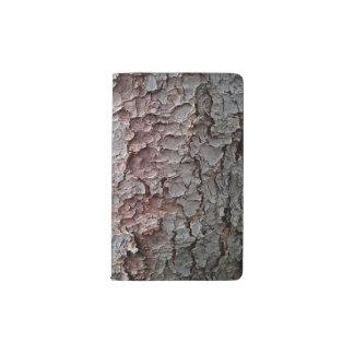 Tall Pine Tree Bark Wallpaper Pocket Moleskine Notebook