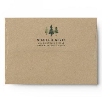 Tall Pines Kraft Envelope