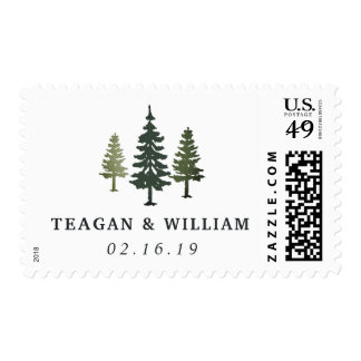 Tall Pines   Personalized Wedding Postage