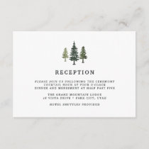Tall Pines Reception Card