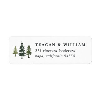Tall Pines Return Address Label