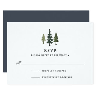 Tall Pines RSVP Card