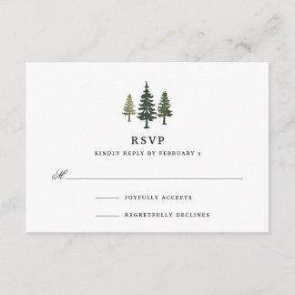 Tall Pines RSVP Card